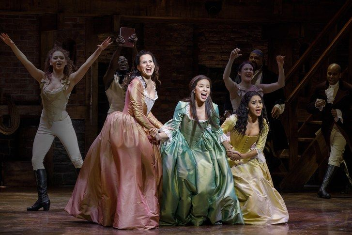 Scena from Hamilton on Broadway