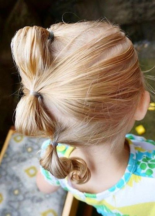 trys ponytails hairstyle for toddlers