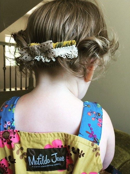 lengva toddler girl hairstyle for short hair