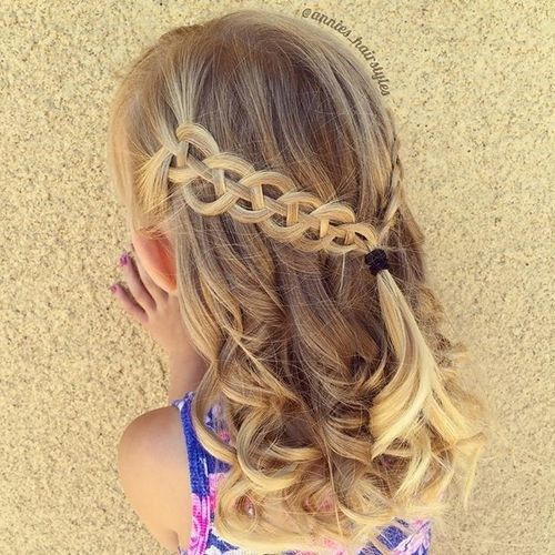 pusė up braided toddler hairstyle