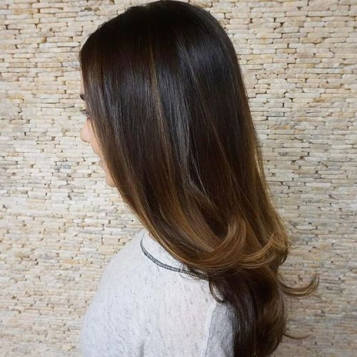 Slank Hairstyle With Subtle Ombre
