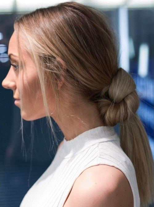Lav Knotted Ponytail