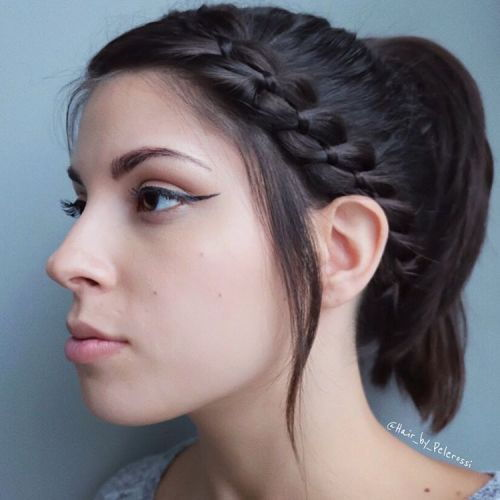 hestehale With A Side Ribbon Braid