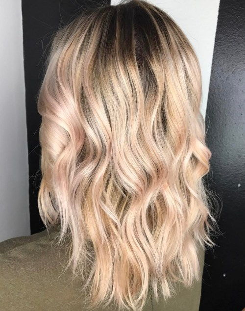 Platina Blonde Meets Rose Gold