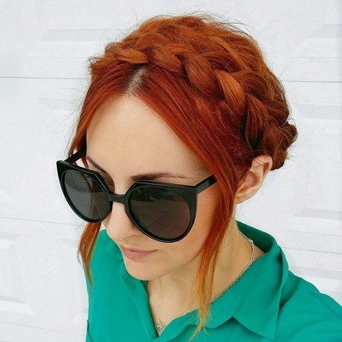 mljekarica braid updo for red hair
