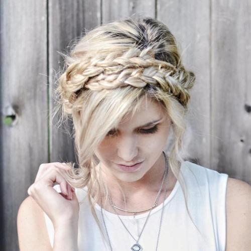 mljekarica braid updo with two braids