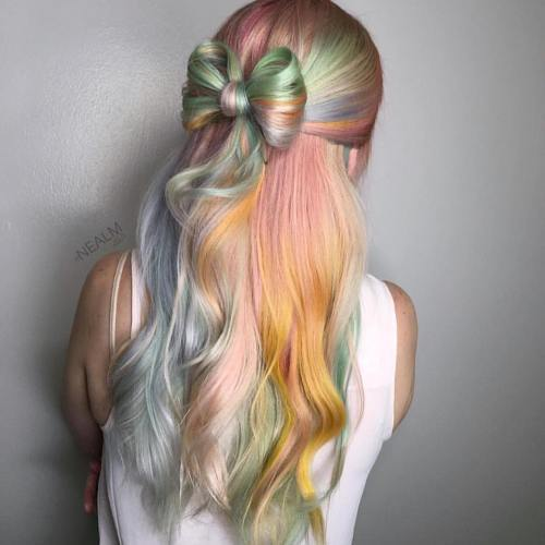 Pola Up Bow Updo For Pastel Hair