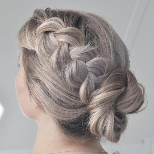 Lengva Twisted Bun With A Braid Updo