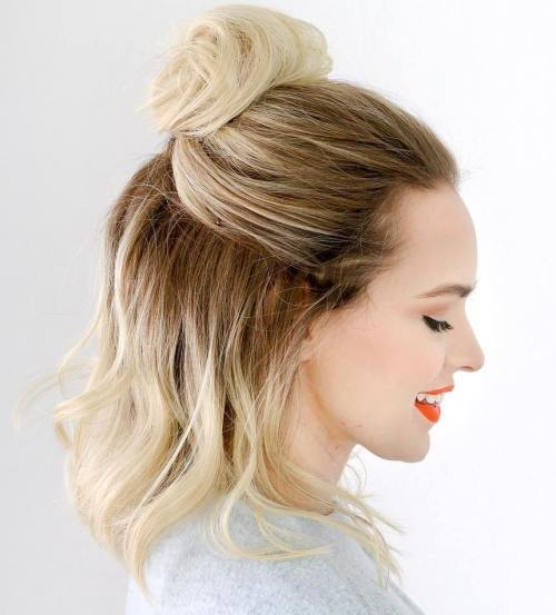 Pusė Up Top Knot For Lob