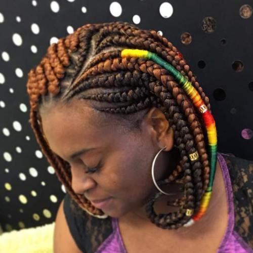 uvijen Under Black Braided Bob