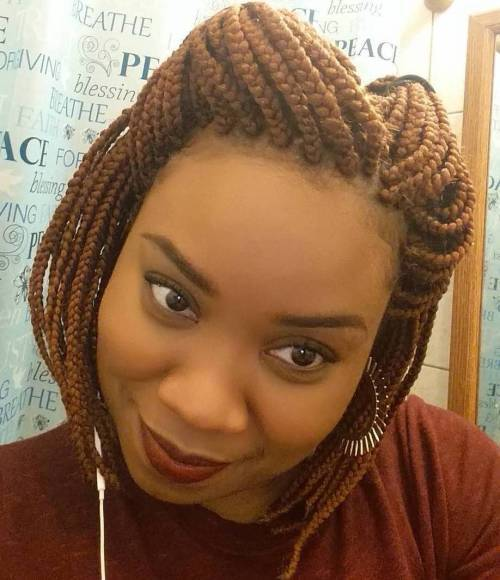 Pola Up Box Braids Bob Hairstyle
