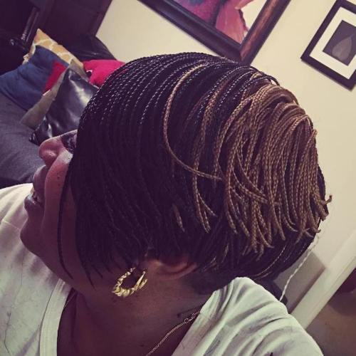 Kratak Layered Bob With Mini Braids