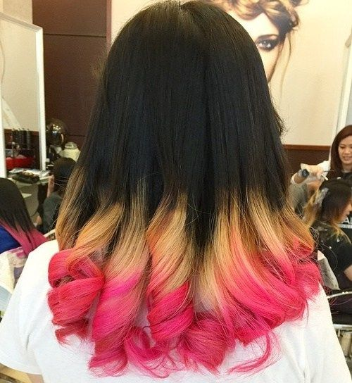 crno, blonde and pink hair color