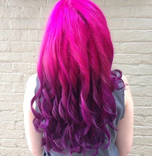 purpurnocrven pink to purple ombre hair