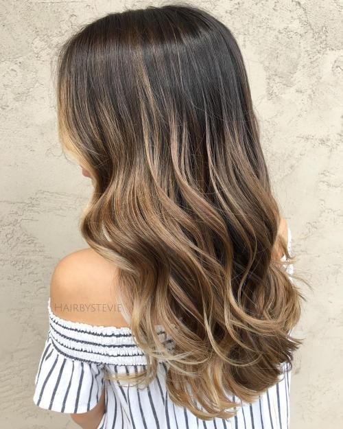 Dark Blonde Balayage For Brown Hair