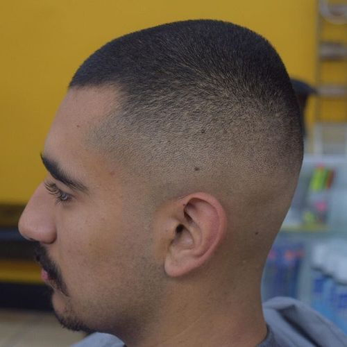 ekstra short fade haircut for men