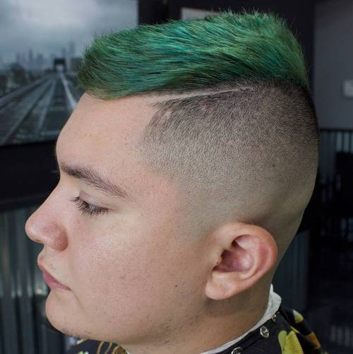 funky fade with green top