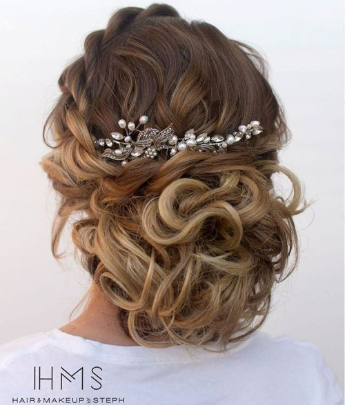 Laisvas Curly Updo For Ombre Hair