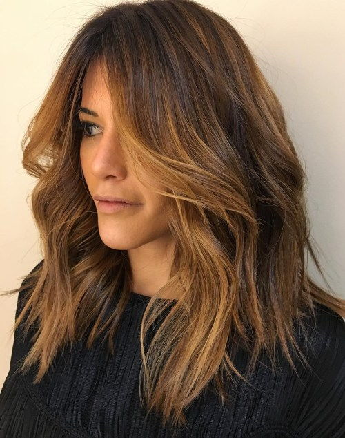 בְּרוֹנזָה Highlights For Brown Hair