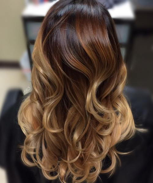 בְּלוֹנדִינִית, Red And Brown Balayage Hair