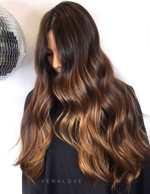 ארוך Balayage Hair For Brunettes