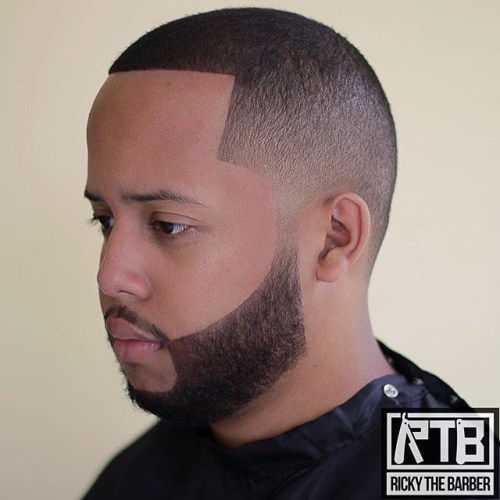 קַו Up Fade With Facial Hairstyle
