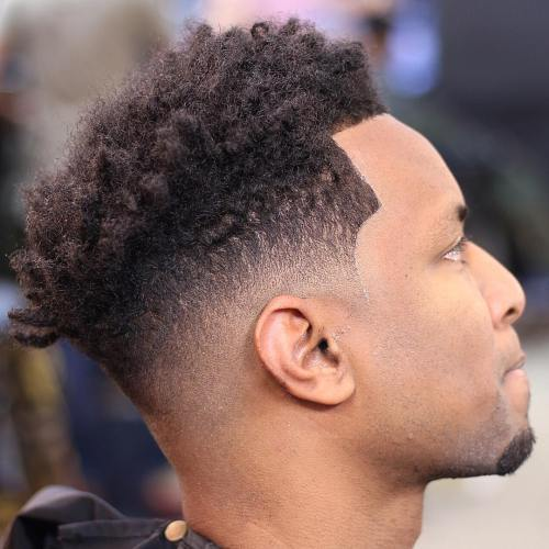 טִבעִי High Top Fade And Line Up