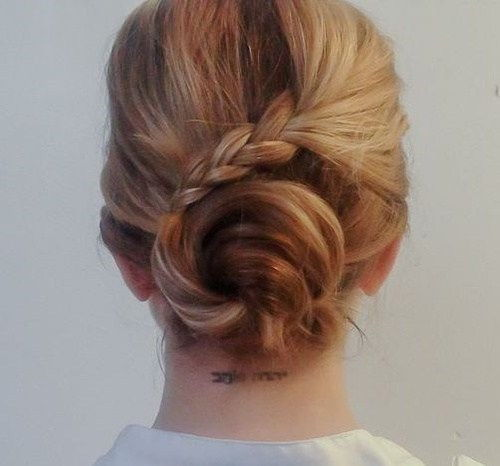 bolle and braid updo