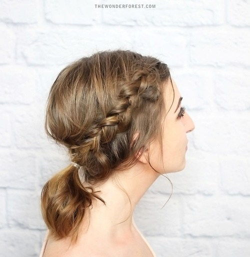 flettet updo with a pony