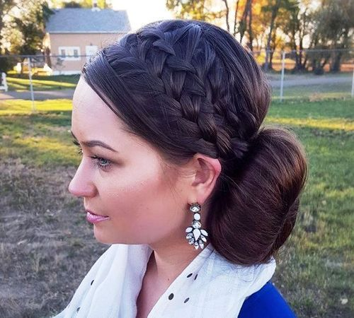 traka za kosu braids and side bun updo