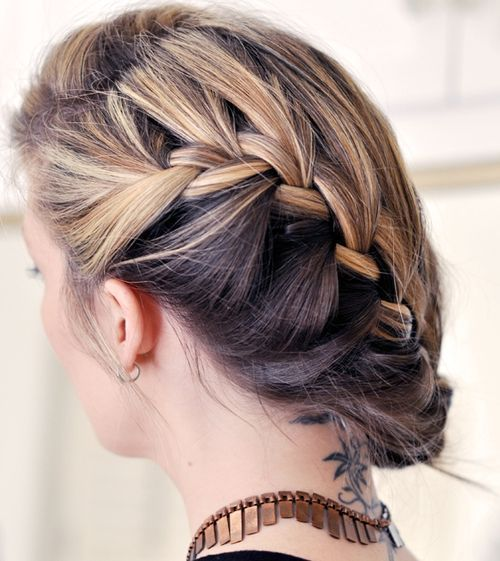 francuski braid updo