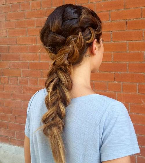 francuski braid hairstyle for long thick hair