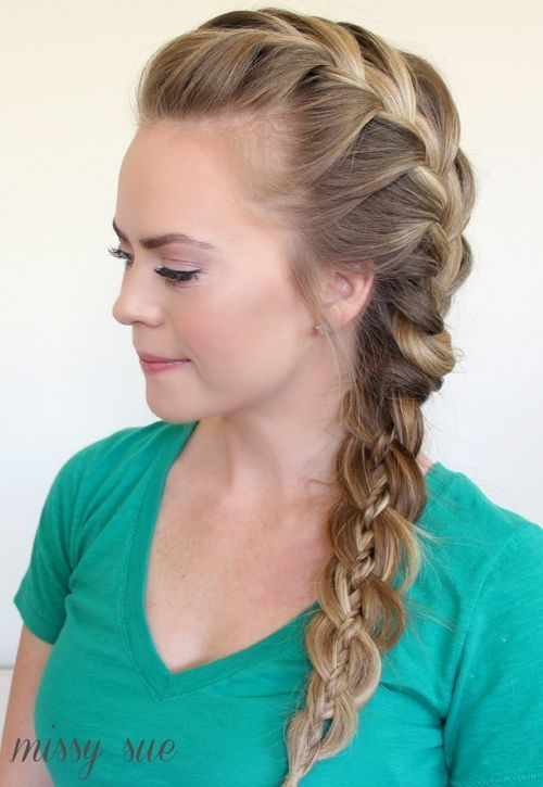 Strana 4-strand braid hairstyle