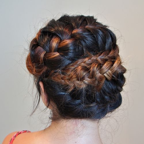 sladak French braid updo