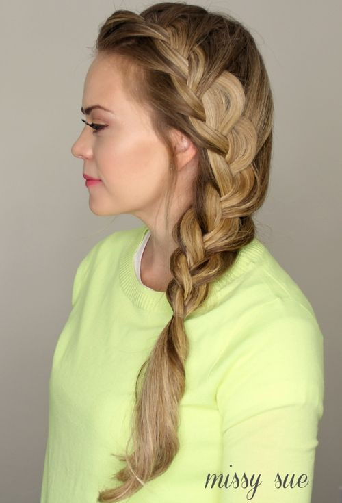 Strana Dutch braid hairstyle