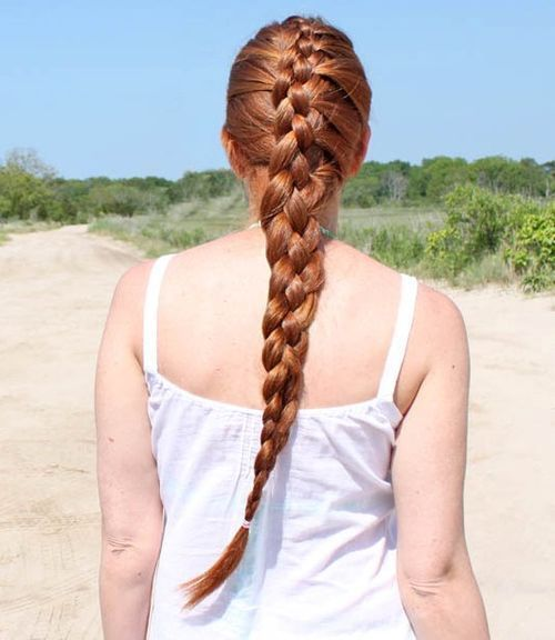 4 lanca French braid for long hair