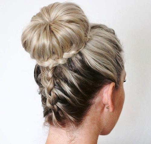 gore down braid and bun