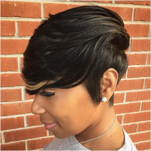 sort weave with bangs