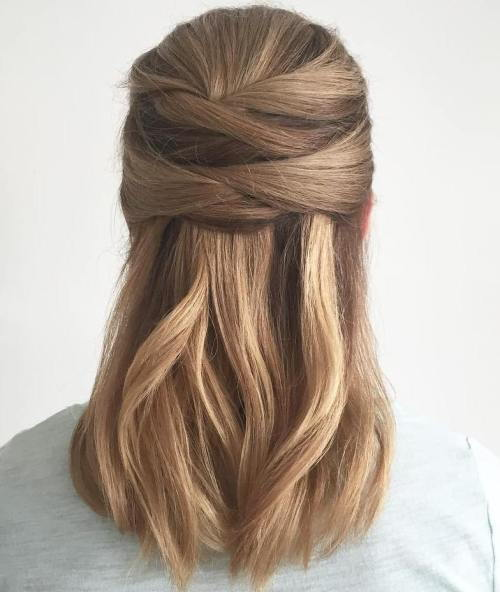 Pusė Updo For Thick Straight Hair