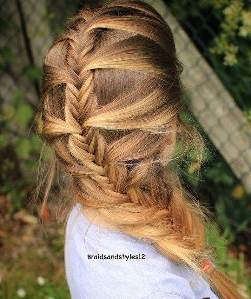 Kvailas Fishtail Braid For Straight Hair