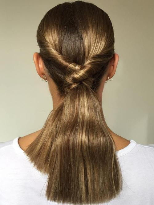 Glotnus Low Twisted Ponytail