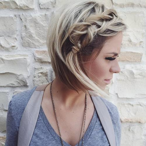 Bobas with a side messy braid
