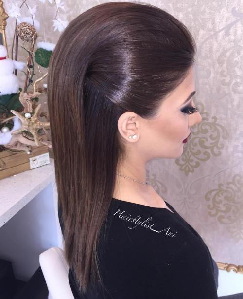 Oficialus Half Up Hairstyle For Medium Hair