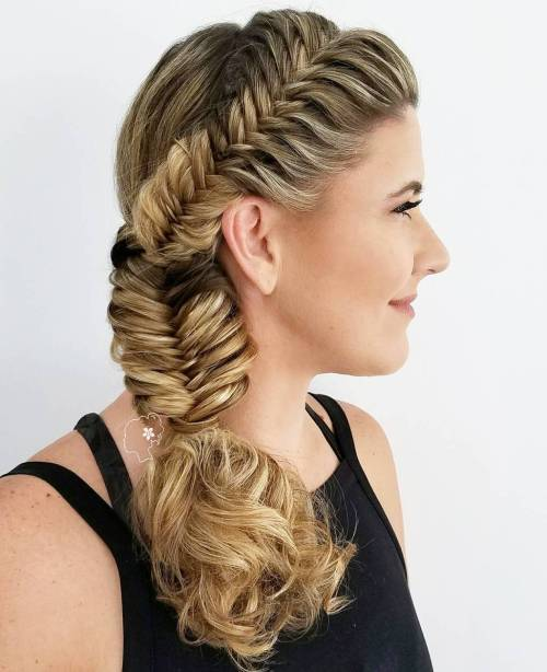 Fishtail For Curly Hair
