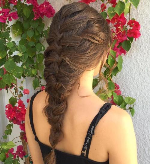 Enkel Braided Hairstyle For Long Hair