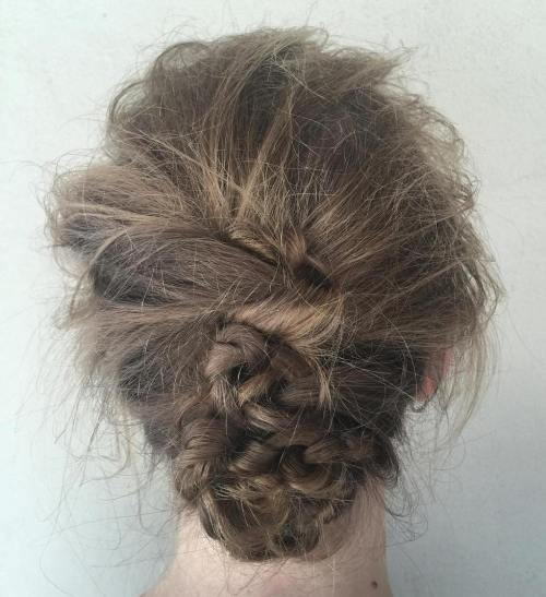Rodet Updo For Medium Hair