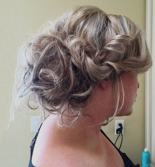 rodet updo with side twists