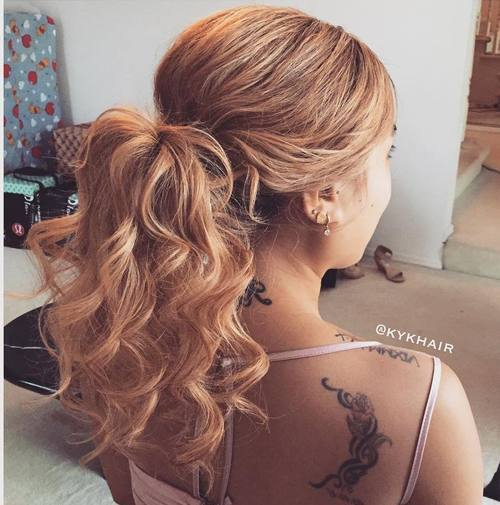 רִשְׁמִי curly ponytail