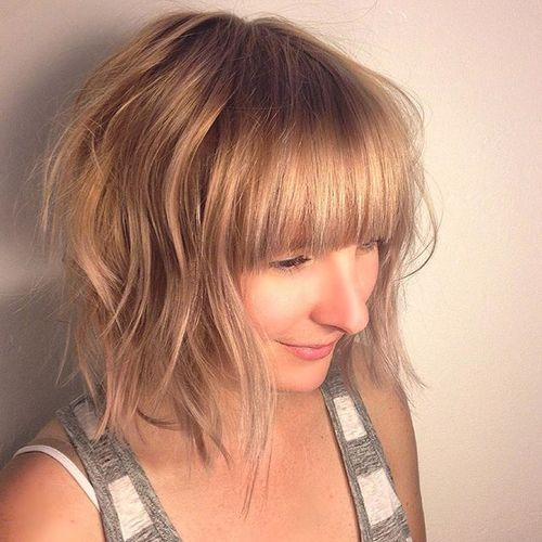ispucao blonde bob with bangs