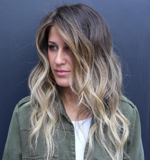 Brown To Ash Blonde Balayage Ombre